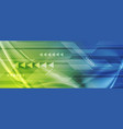 green blue abstract technology digital background vector image vector image