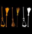 halloween witches broomstick vector image vector image