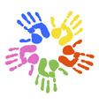 handprints vector image vector image