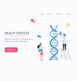 health service future technology landing page or vector image