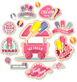 ice cream emblem set vector image vector image