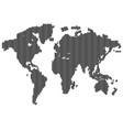 isolated dark grey color worldmap lines on vector image vector image