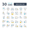 line icons world milk day vector image