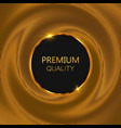 luxury golden round frame gold glitter background vector image