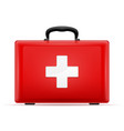 medical first aid box case kit stock vector image vector image