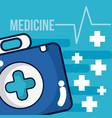 medicine equipment cartoons vector image vector image