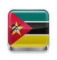 Metal icon of Mozambique vector image vector image