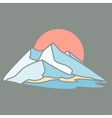 Mountain island The dark background vector image vector image
