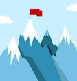 Mountain landscape in flat vector image