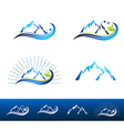 Mountain Resort Logo Design vector image vector image