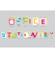 Office and Stationery Display Text vector image