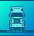 old truck logo green and blue