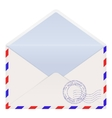Open air mail envelope vector image vector image
