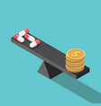 pills and money balance vector image vector image