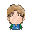 profile anime tennager faceless drawing vector image vector image