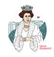 queen elizabeth ii portrait vector image vector image