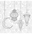 Ramadan Kareem greeting design background vector image vector image