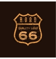 Road sign Highway 66 high-quality brand-name vector image