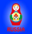 russian nesting doll matryoshka vector image