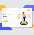 satisfaction chart concept vector image vector image