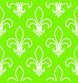 seamless pattern fleur de flis linear graphics vector image vector image