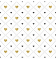 seamless pattern with black and gold heart shapes vector image vector image