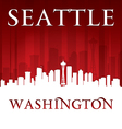 Seattle Washington city skyline silhouette vector image vector image
