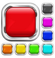 set square multicolored buttons vector image