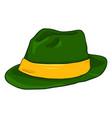 single cartoon irish color fedora hat vector image vector image