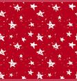 stars christmas pattern vector image