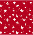 stars christmas red pattern vector image vector image