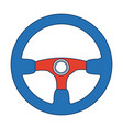 steering wheel car auto control icon vector image vector image