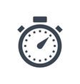 stopwatch glyph icon vector image vector image