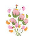 Stylized Poppy flowers watercolor vector image vector image