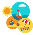 SUMMER TIME yellow beach with blue sea vector image vector image