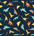 watercolor dinosaur bapattern vector image