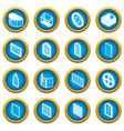window forms icons set simple style vector image vector image