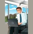 working businessman vector image