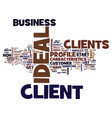 your ideal client text background word cloud vector image vector image