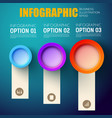 business presentation infographic template vector image