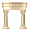 Corinthian realistic antique greek temple with vector image