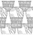 ice cream dessert black and white vector image