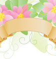 pink scroll vector image