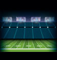 american football stadium and field background vector image vector image