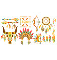 american indian ethnic elements boho style design vector image