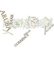 aruba currency text background word cloud concept vector image vector image