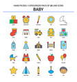 baby flat line icon set - business concept icons vector image
