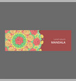 banner with floral ornament rose tulip vector image vector image