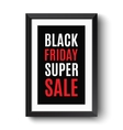 Black frame isolated on white background vector image vector image