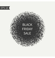 Black Friday sale sign Black and white design vector image